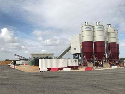 A 110K CONCRETE BATCHING PLANT IN THE UK FOR RAF MAHRAM AIRPORT PROJECT