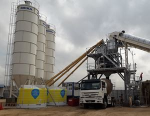 MEKA CONCRETE PLANT IS PRODUCING CONCRETE FOR TEMA INTERSECTION IN GHANA