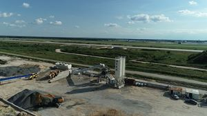 MEKA MB-110K CONCRETE BATCHING PLANT ON DOMODEDOVO AIRPORT PROJECT IN RUSSIA