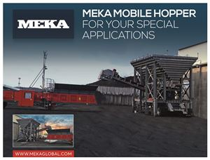 MEKA MOBILE HOPPER FOR COAL UNLODING AT GDAŃSK PORT IN POLAND