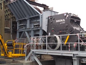 MEKA MPI 1313 PRIMARY IMPACT CRUSHER HAS BEEN INSTALLED IN BELGIUM