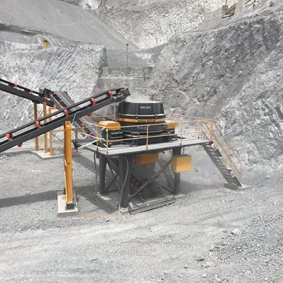 MEKA VERTICAL SHAFT IMPACT CRUSHER IN THE MIDDLE OF THE WORLD AT 0º 0 ′ 0 LATITUDE
