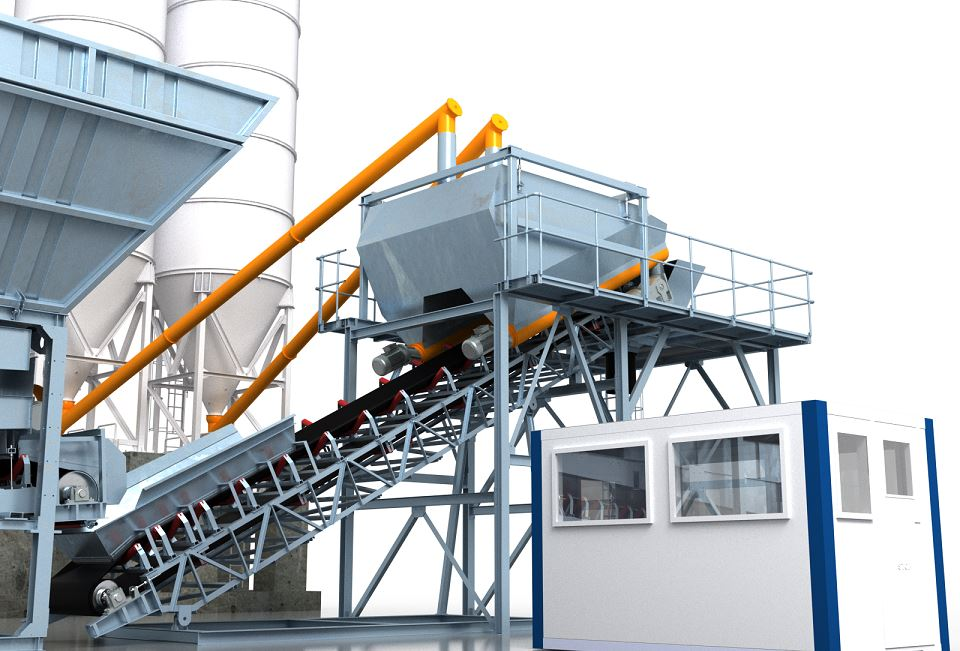 MB-100/200D Dry Batch Concrete Plants
