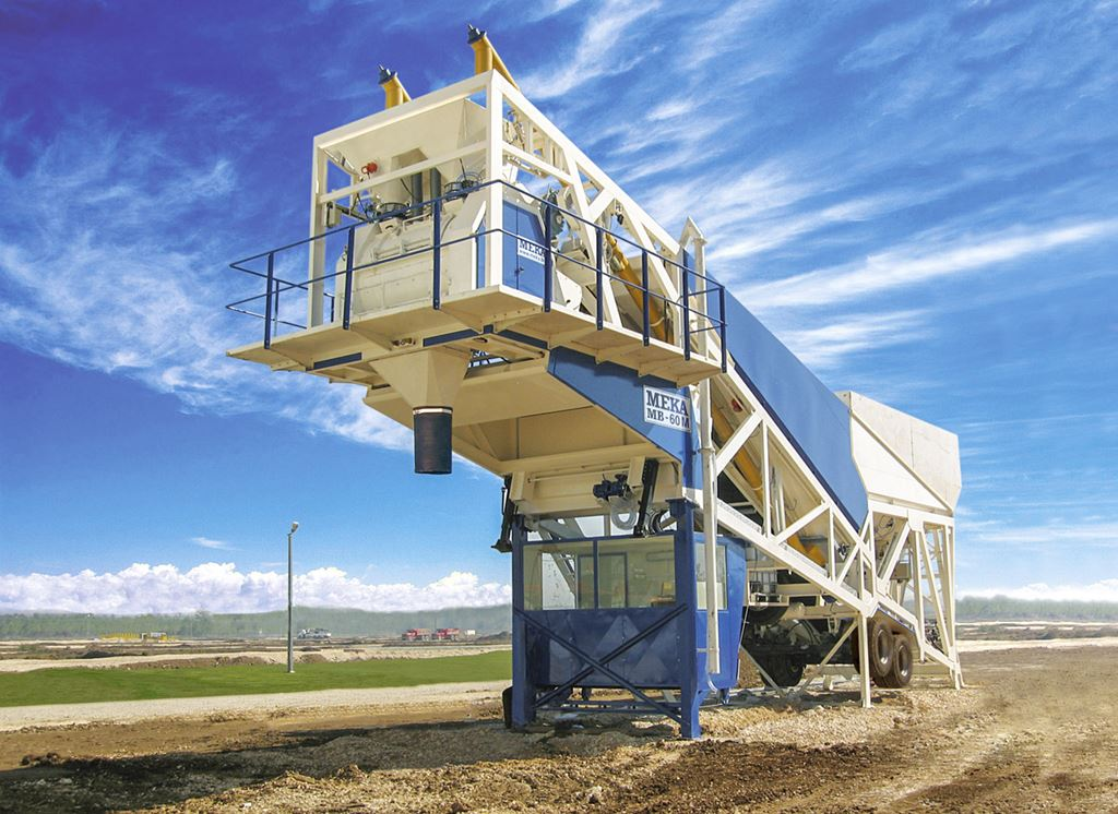 Figure 3Heavy and stable main chassis of MEKA mobile concrete batching plants allows extreme durability, continuous long-life operation and sensitive weighing by minimizing the vibrations to the scales.