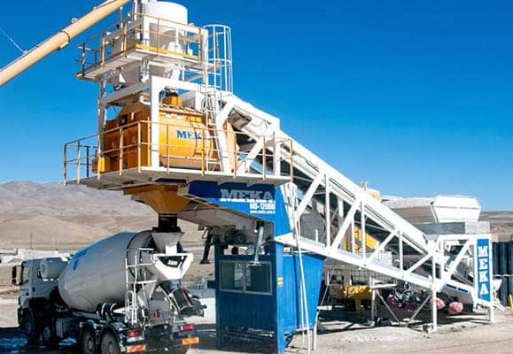MB-120/135BM Mobile Concrete Batching Plants