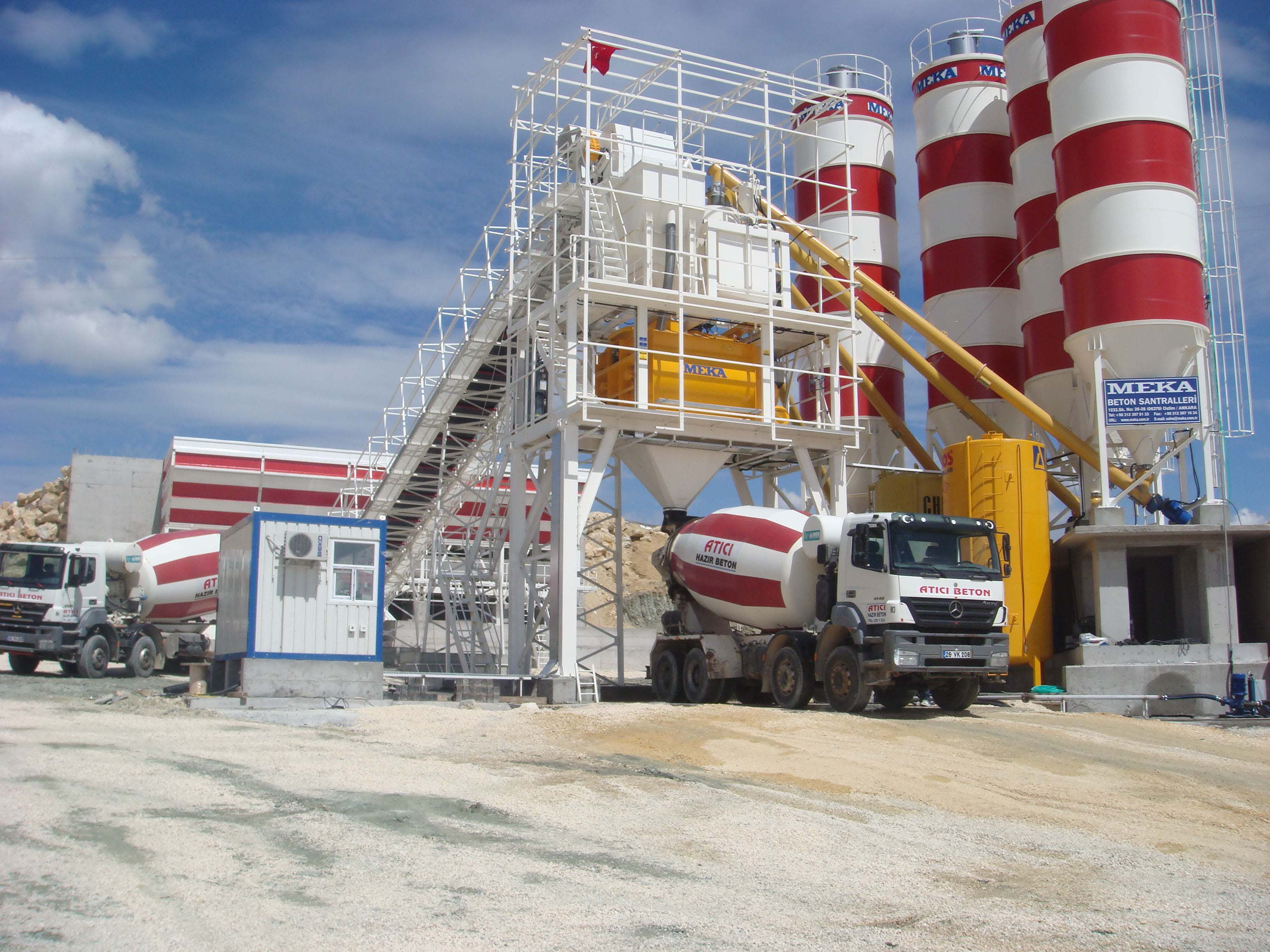 MB-200W Stationary Concrete Batching Plant