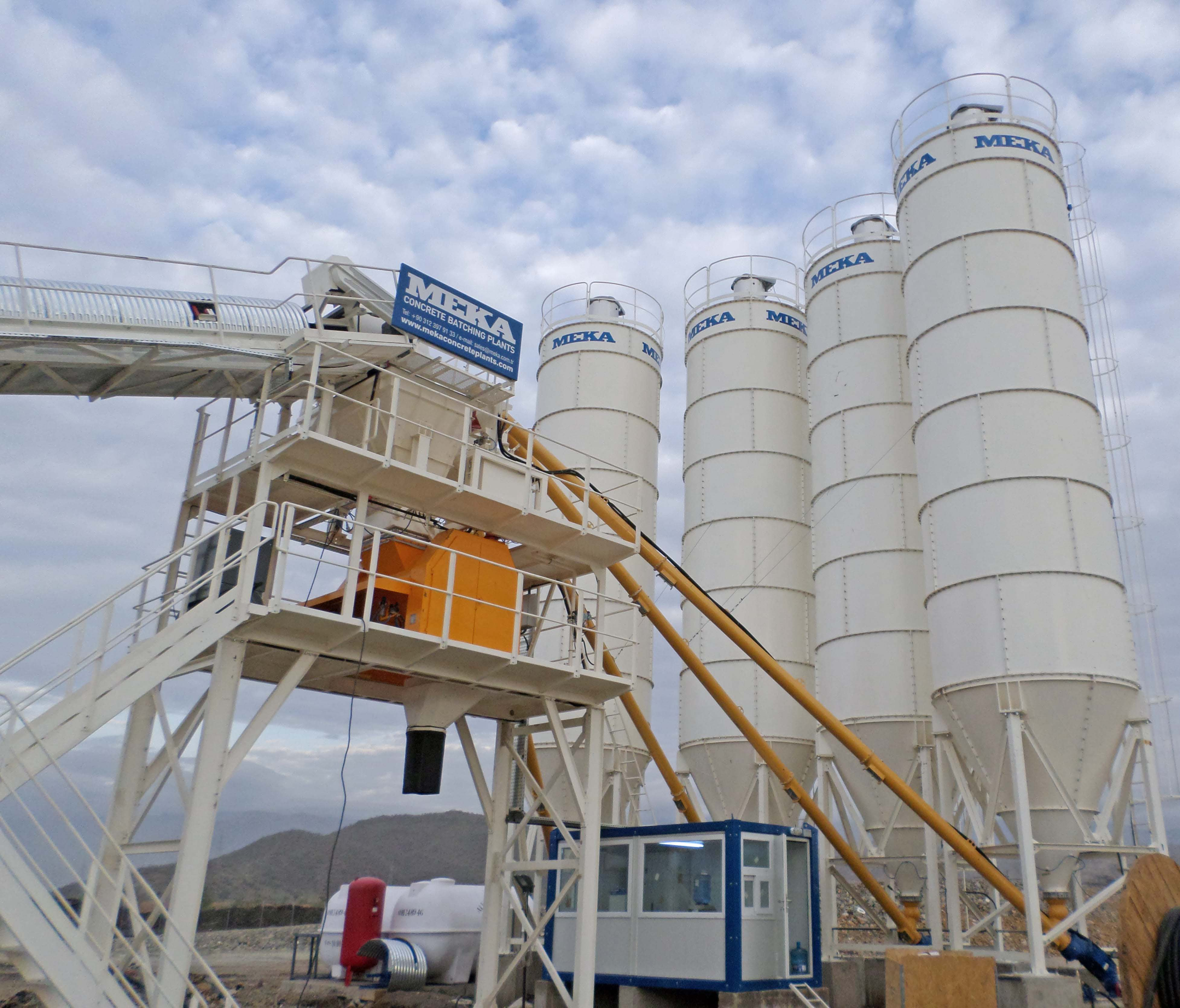 MB-60W-WS Stationary Concrete Batching Plant